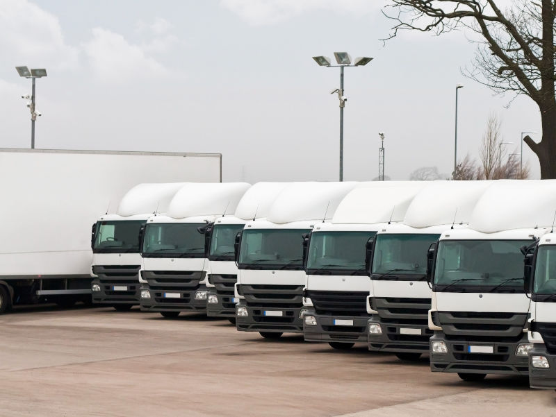 HGV lorries parked