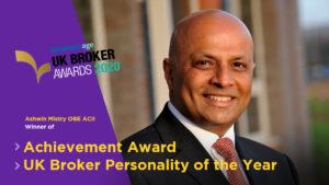 Ashwin Mistry UK Broker Awards
