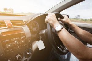 interior of car driving