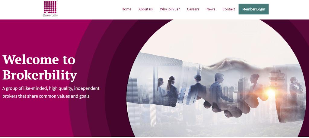 Brokerbility website screenshot